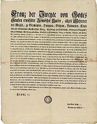 II. Ferenc császár urbáriummal kapcsolatos rendelete, 1802