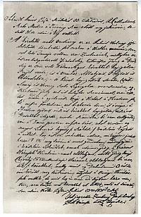 Kópia a pesti diákok 1831.VII.17-iki lázadásának tárgyában tett egyik tanúvallomásról