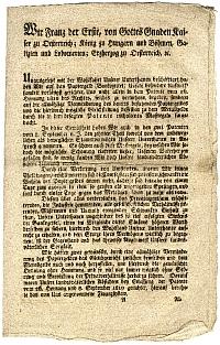 Ferenc császár rendelete a devalvációról, 1811