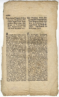 Pest megyei közgyűlés kivonata az új papírpénz alkalmazásának kiterjesztéséről, 1817