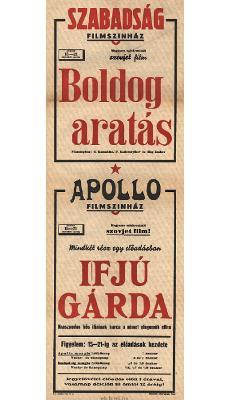 Szabadság és Apollo Filmszínház programjai 1949. június 15-21