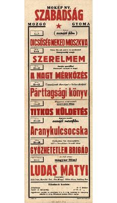Szabadság Mozgó programjai 1949. május 3-június 1-ig