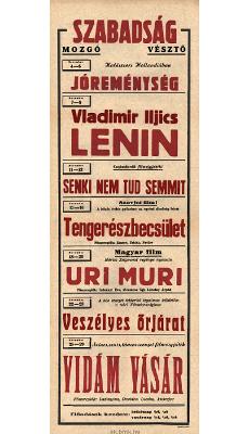 Szabadság Mozgó programjai 1949. november 4-29
