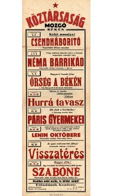 Köztársaság Mozgó programjai 1949. február 1-27-ig