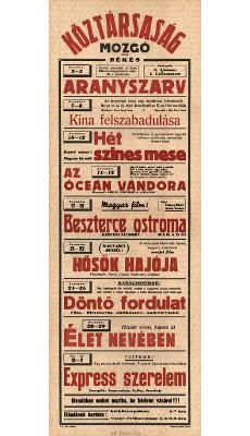 Köztársaság Mozgó programjai 1949. december 3-1950. januar 2-ig