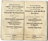 Pest város Tanácsának tagjai 1767 óta és az 1834-ben megválasztot tisztviselők és polgárság jegyzéke, Pest, 1834
