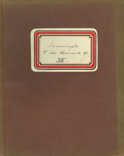Manuscripta P. Petri Katancsich OFM XII.