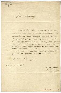 Eötvös József levele a Védegylet választmányához, 1847