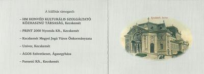 Meghívó Sebestyén Imre kecskeméti gyűjtő Thália magyar papjai és papnői voltak című képeslevelezőlap-kiállításának megnyitójára