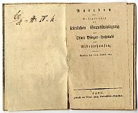 Beszédek a budai polgári kórház és dologház alapkőletételekor, 1819