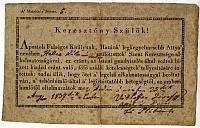 Himlőoltási felhívás és igazolási nyomtatvány, 1837