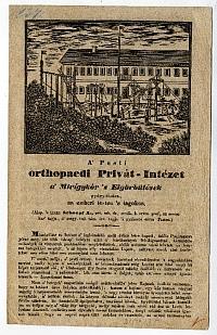Tájékoztató a pesti Orthopaedi Privát-Intézet bővítéséről, 1837
