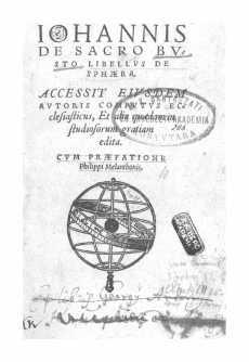 Iohannis de Sacro Busto Libellus de sphaera [Tracratus de sphaera mundi]