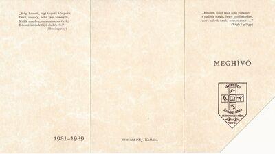 Meghívó a Lánchíd Utcai Általános Iskola 1989-ben végzett tanulóinak ballagási ünnepségére