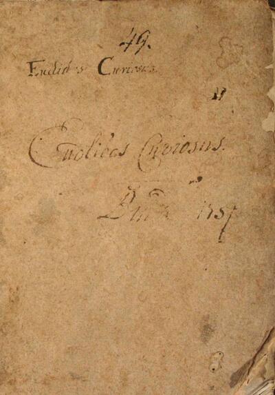 Euclides Curiosus per varias Scientiae et Artis Matematicae partes jucundissimis et utilissimis propositionibus expositus