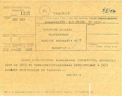 Nyisztor György kitüntetése