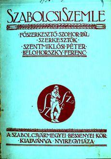 Szabolcsi Szemle 1934 3