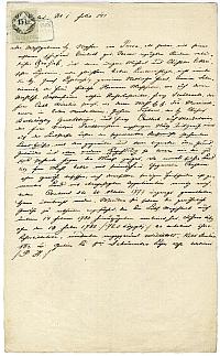 Hiteles másolat a Császár-malom szerződéséről, 1862