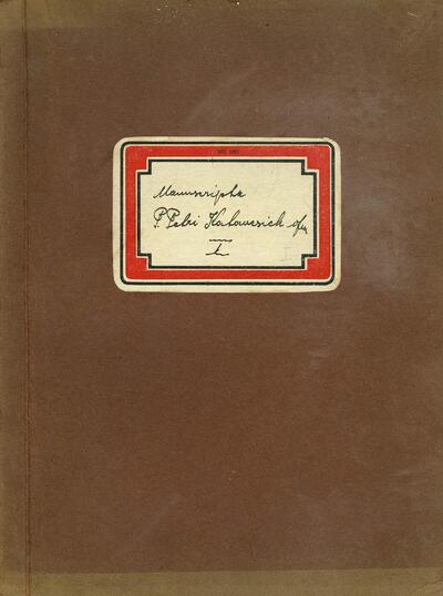 Manuscripta P. Petri Katancsich ofm I.