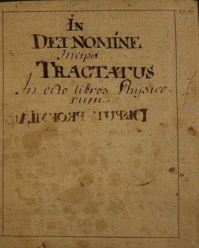 Tractatus in Octo Libros Physicorum