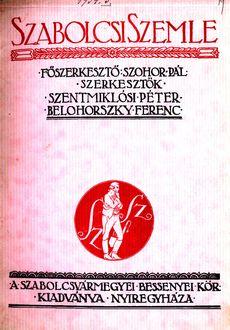 Szabolcsi Szemle 1934 5