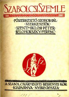 Szabolcsi Szemle 1935 3