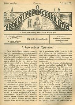 Erdélyi Ferencesek Útja 1934. Október-November-December