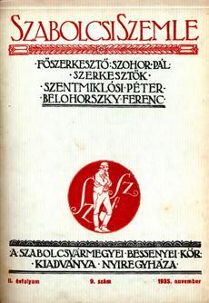 Szabolcsi Szemle 1935 9