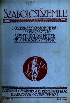 Szabolcsi Szemle 1938 5 8