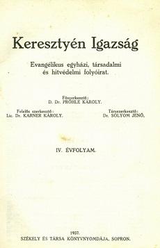 Keresztyén Igazság 1937 (január)