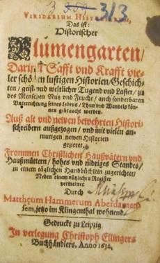 HAMMERUS, Mattheus / Blumengarten