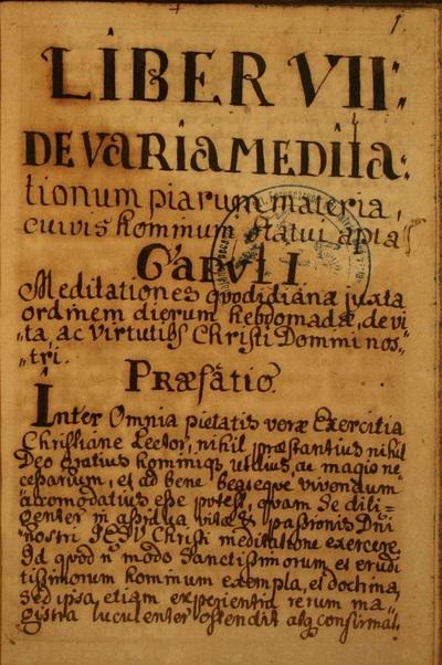 Liber VII: De varia meditationum piarum materia, cuivis hominum statui apta