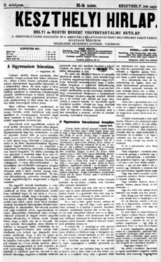 Keszthelyi Hirlap 1892.08.28.