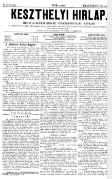 Keszthelyi Hirlap 1892.11.20.