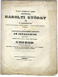Üdvözlővers Károlyi György békési főispáni beiktatása alkalmával, Vásárhelyi Gymnasium növendékei, 1842