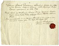 Keresztelési igazolás Mickó József részére, Kistállya, 1811