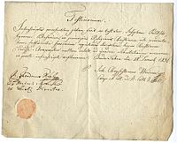 Egyházi engedély Palitskó József inas felszabadításához, Buda Tabán, 1836