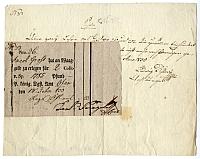 Nyugta mérlegpénzről, Buda, 1833