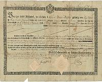 Invalidus elbocsátólevele a 9. huszárezredtől, Miklós Mihály részére, 1834
