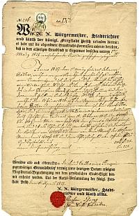 Pesti teleklevél, Huszár Jakab és neje, Terézváros, 1837