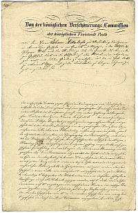 A pesti Szépítő Bizottság levele Mitterdorfer Jánoshoz, 1843