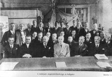 Cukrászipari tanfolyam vizsgabizottsága, Budapest, 1937.