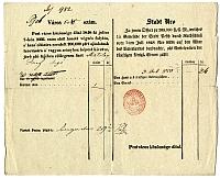 Adó-előleg befizetési nyugta, Matolay József súgó, 1848/1850