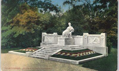 Franzensbad. Kaiserin Elisabeth Denkmal