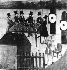 Zágrábi Polgári Lövésztársaság céltáblája, Zágráb, 1829.
