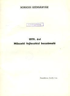 1979. évi Műszaki fejlesztési beszámoló