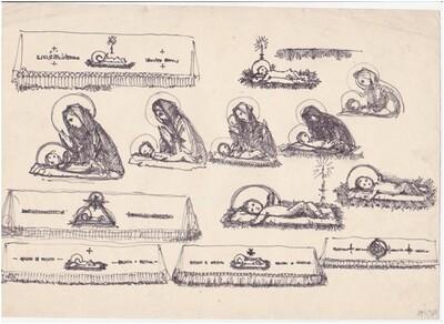 Kis Jézus és oltárterítők