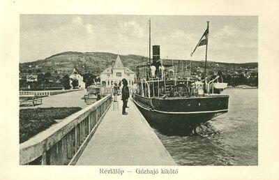 Révfülöp - Gőzhajó kikötő