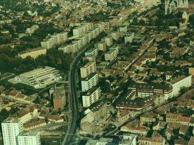 Légifótó a Szigeti városrészről