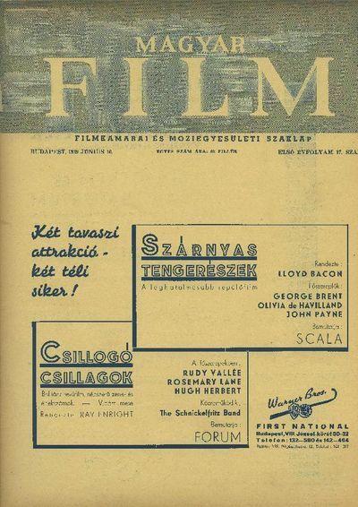 Magyar Film 1939-es I. évfolyam 17. szám